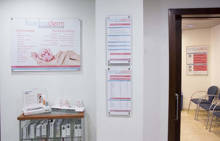 Recepción Huelvaderm, Clínica dermatológica y Medicina Estética en Huelva
